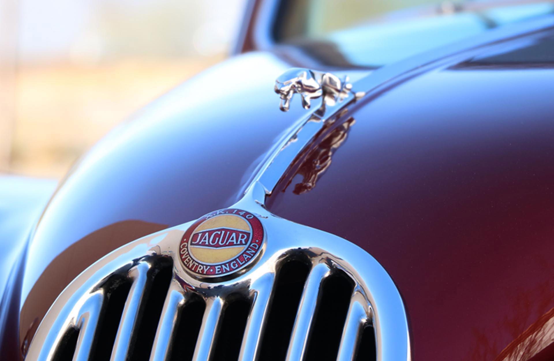 1956 Jaguar XK140 MC hood emblem