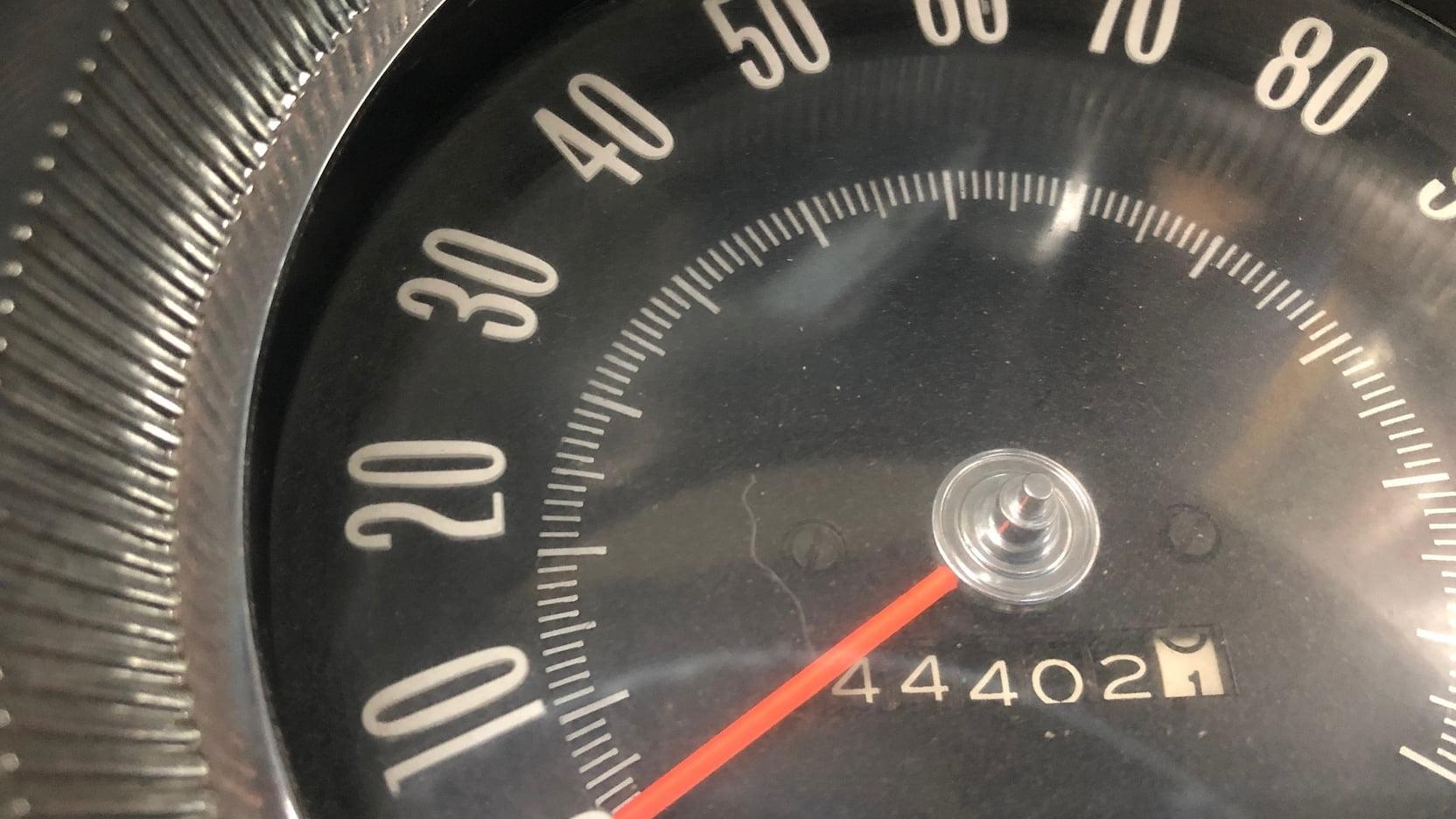 1965 Oldsmobile Starfire speedo