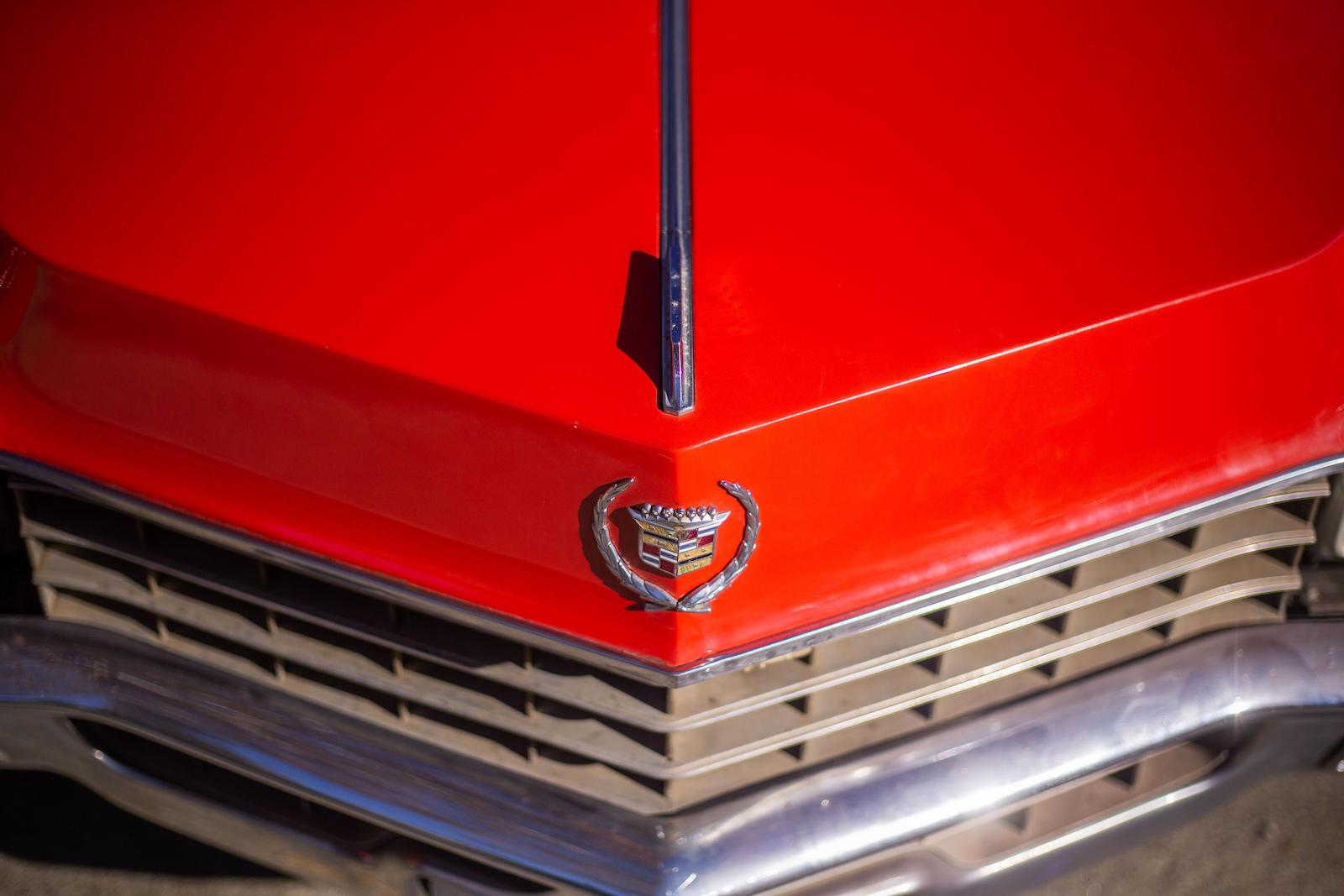 1967 Cadillac Eldorado front hood emblem