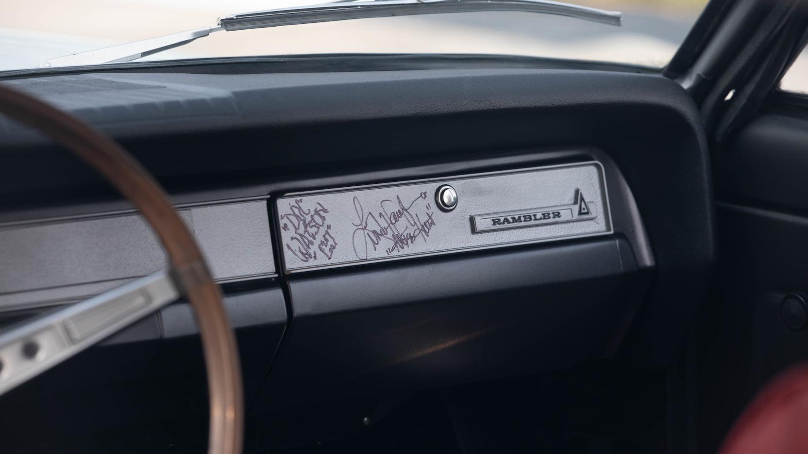 1969 AMC Hurst SC/Rambler glove box