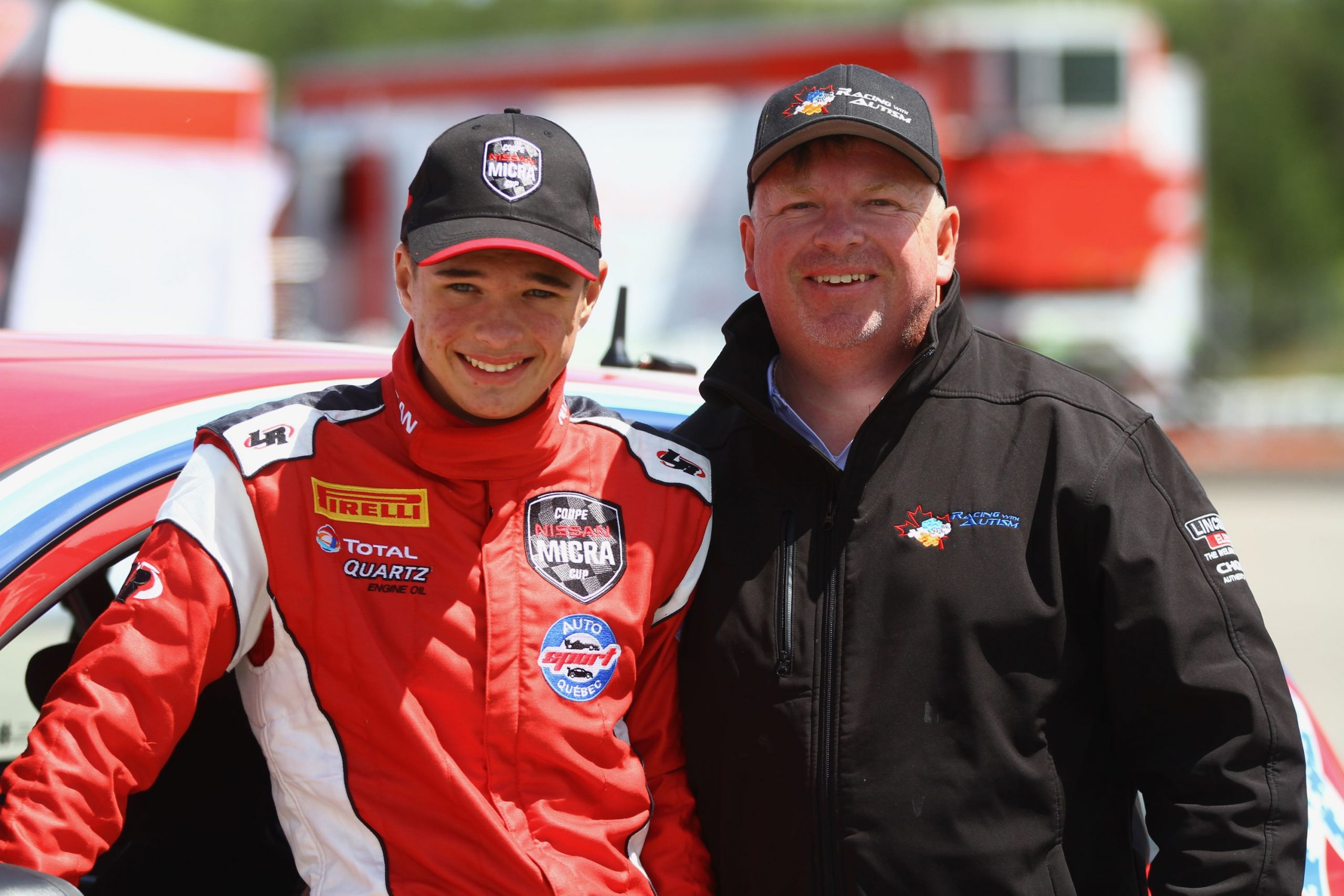 Racing with Autism Austin Riley and father Jason