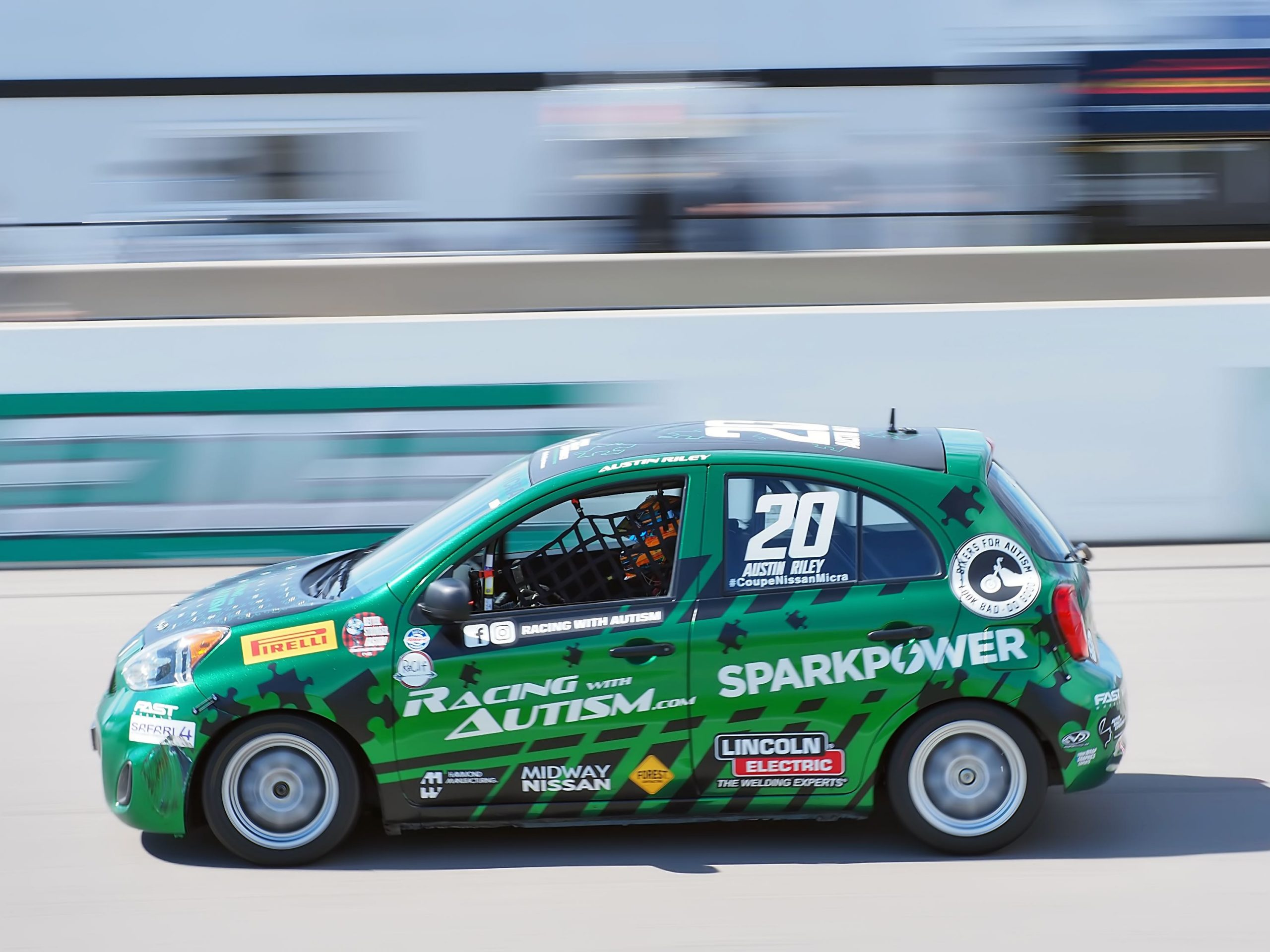 Racing with Autism Austin Riley Micra