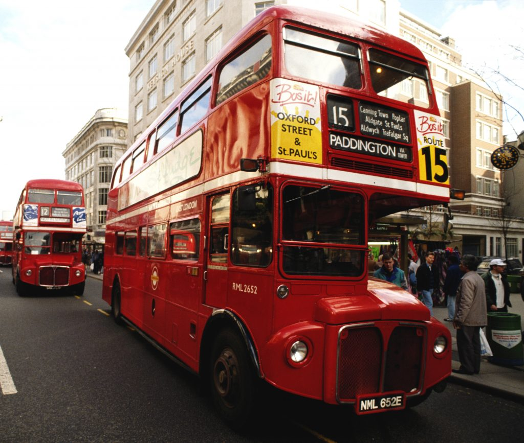 London Double Decker Routemaster iconic bus