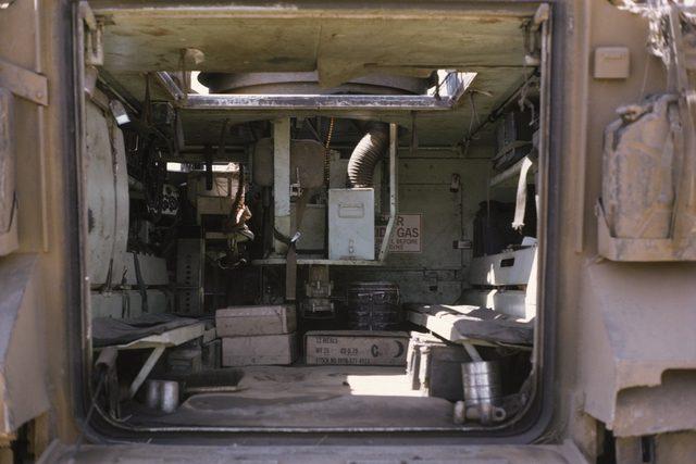 M113 Inside Cargo Area