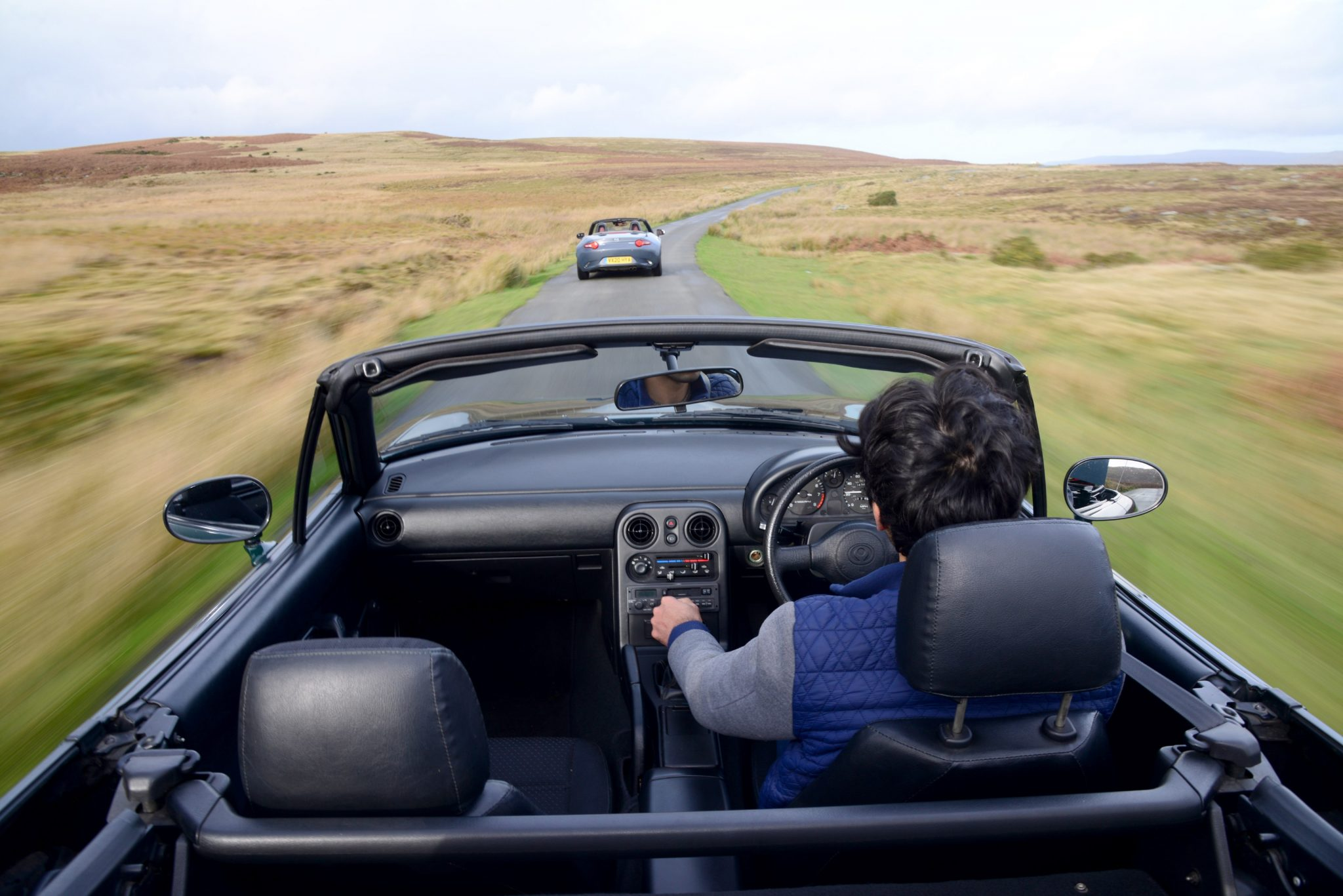 Mazda MX-5 interior driving dynamic action