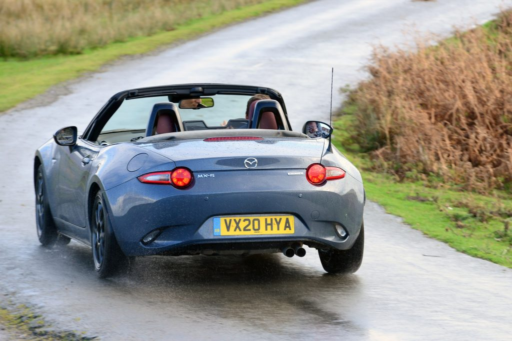 Mazda MX-5 R-Sport rear action top down