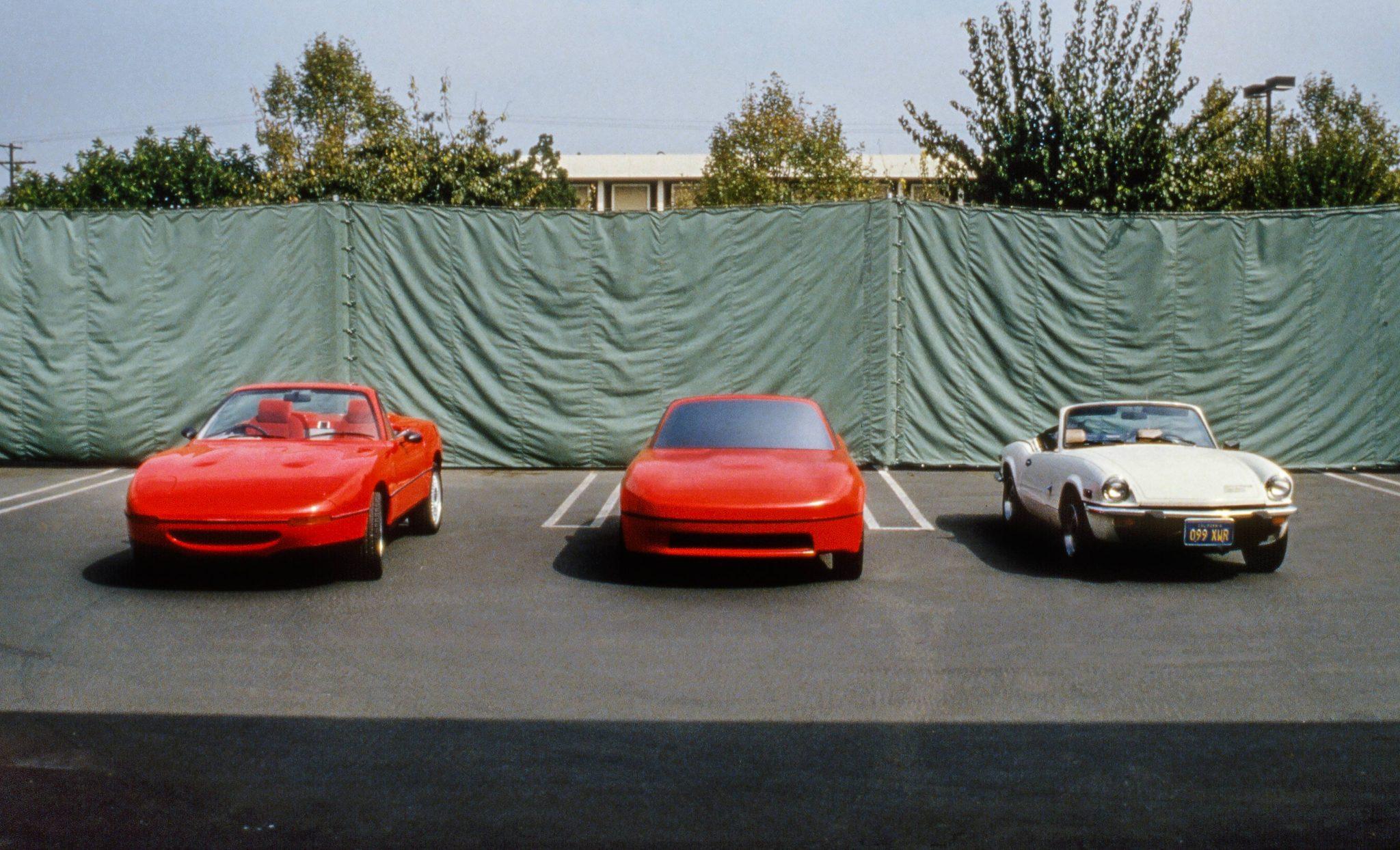 Mazda MX-5 Miata design study work car model and triumph spitfire