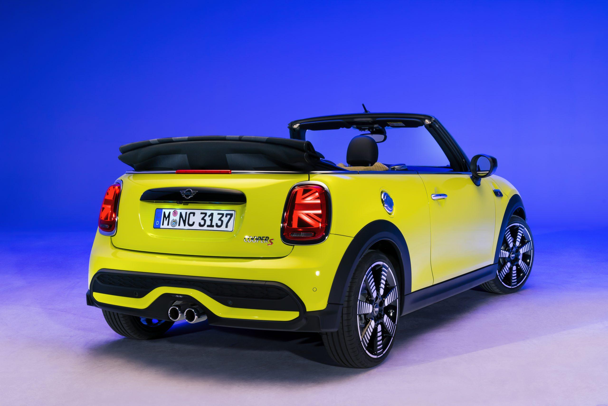 2022 Mini Cooper S Zesty Yellow two door convertible
