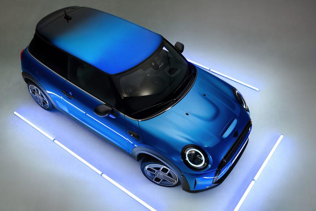 2022 Mini Cooper S Island Blue hardtop Multitone
