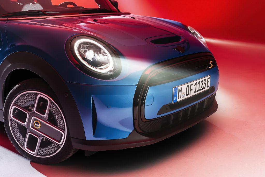 2022 Mini cooper S Island Blue front fascia