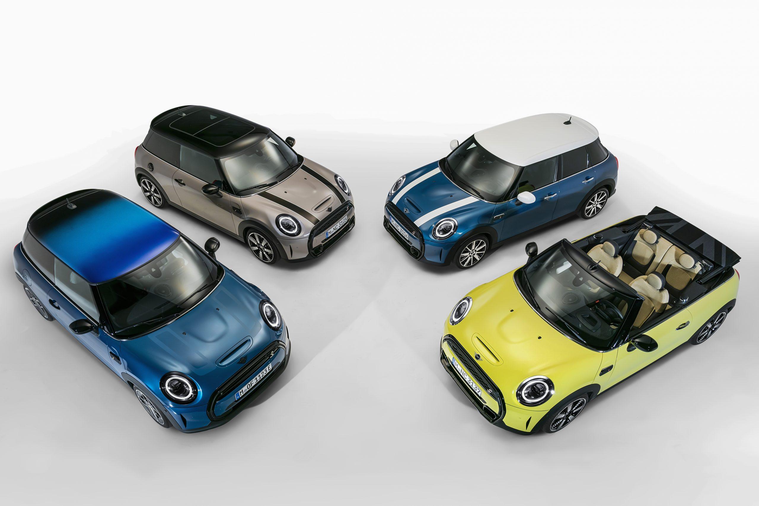 2022 Mini Cooper hardtops and convertibles