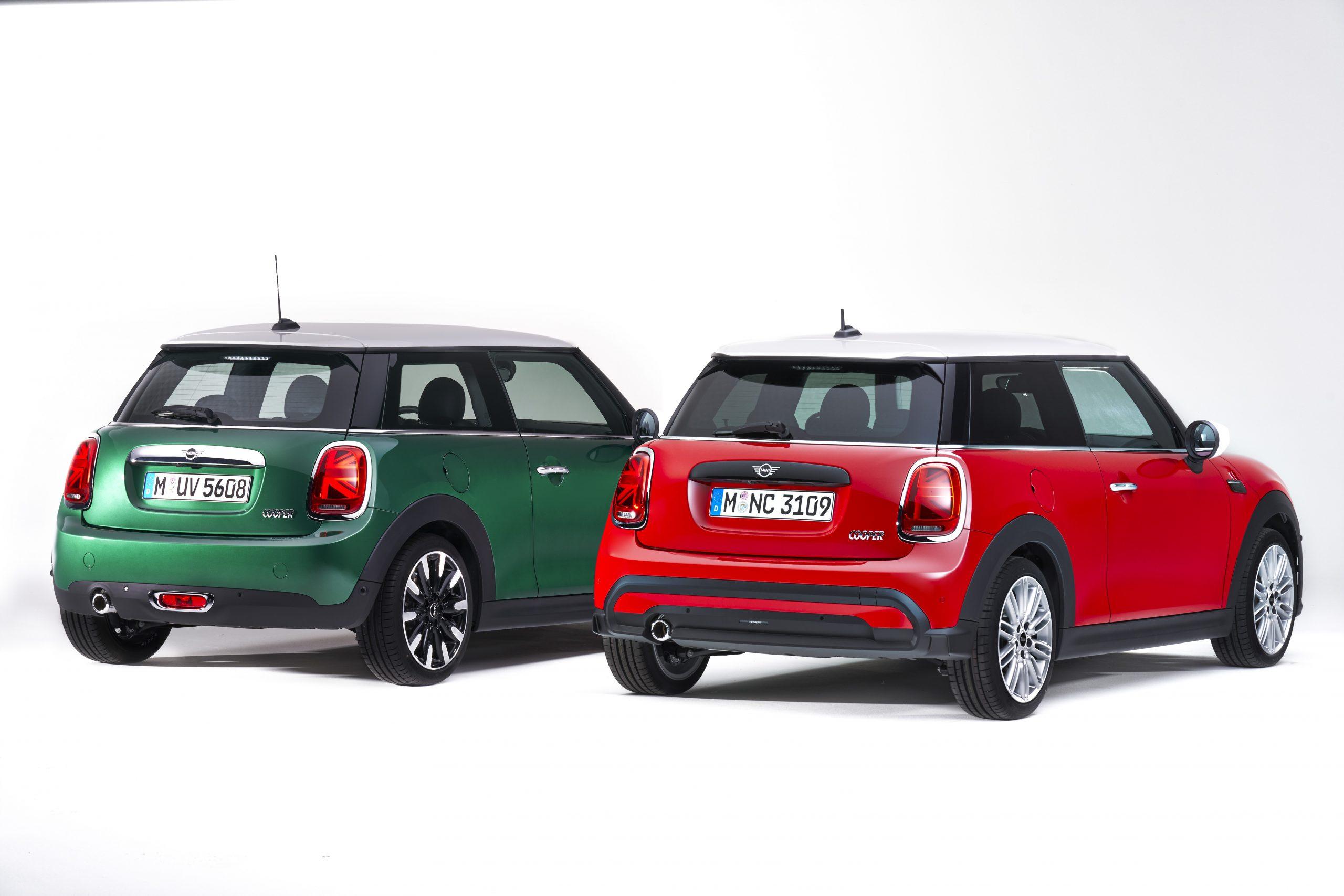 2022 Mini Cooper R 2021 Mini Cooper L comparison rear