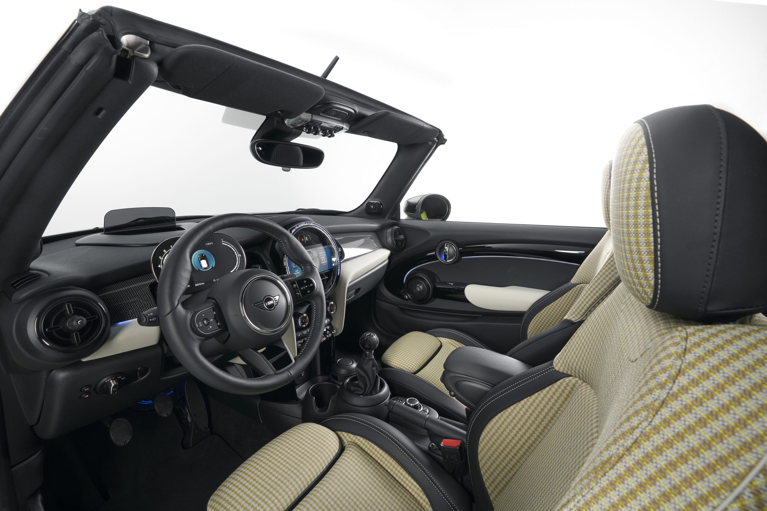 2022 Mini Cooper new interior plaid