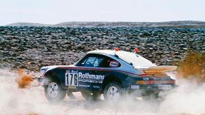 Paris Dakar 1984 Porsche 911 Carrera 3-2 Type 953 action