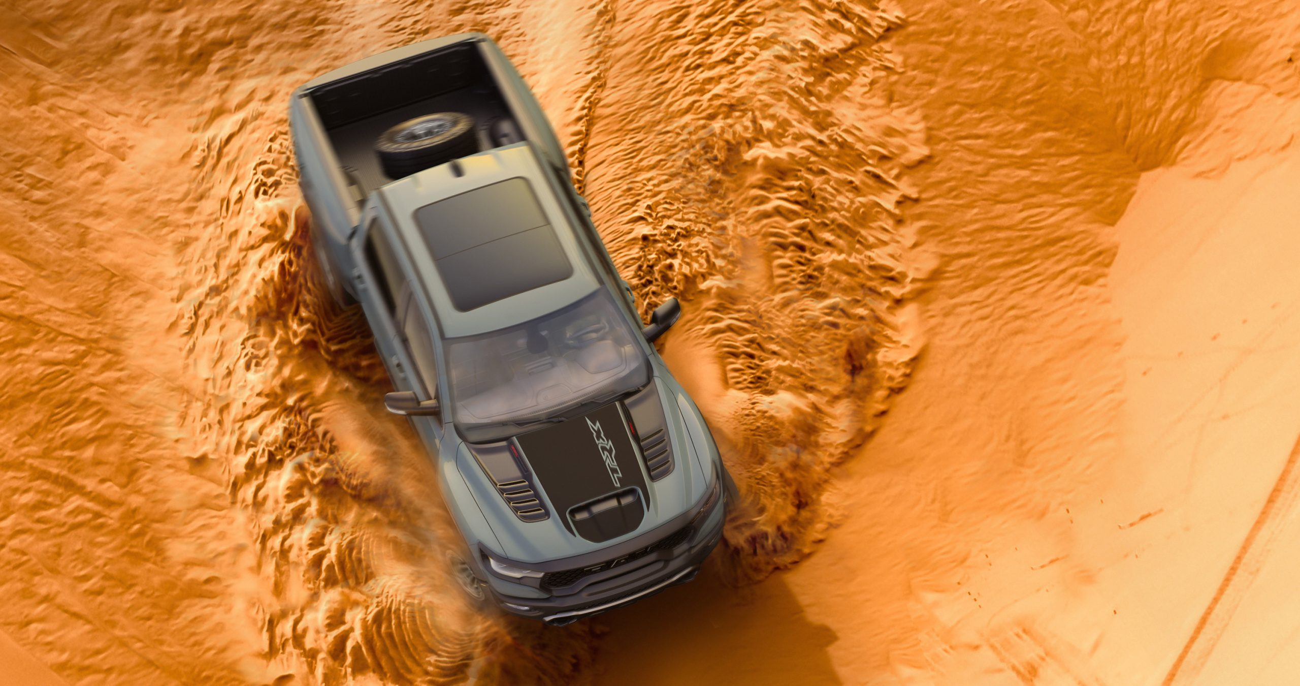 2021 Ram 1500 TRX Launch Edition sand dune front 3/4