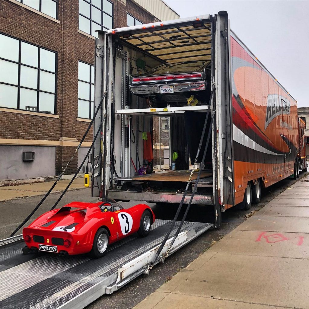 Reliable Carriers loading ferrari rear