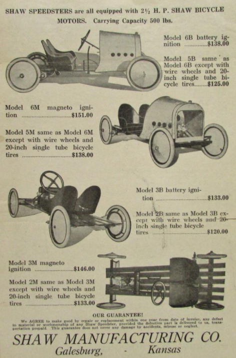 Shaw Speedsters Ad