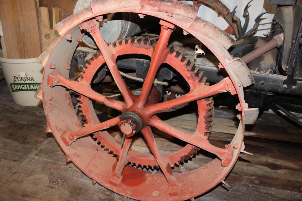 Shaw Model T Conversion Tractor rear wheel