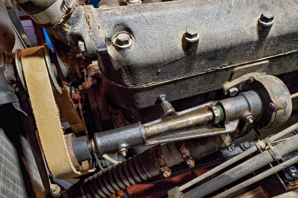 Shaw Model T Conversion Tractor engine close