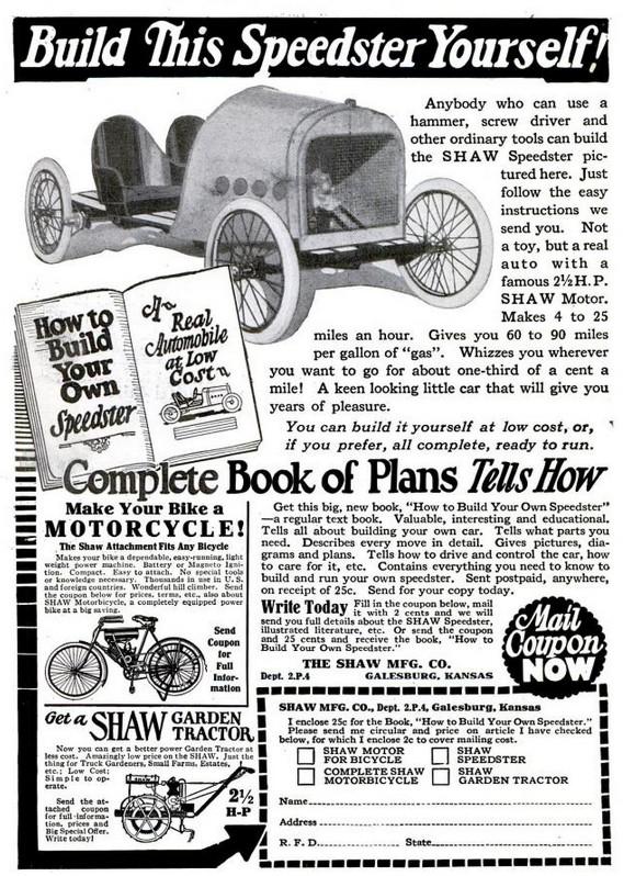 Shaw Speedster Car Kit Ad