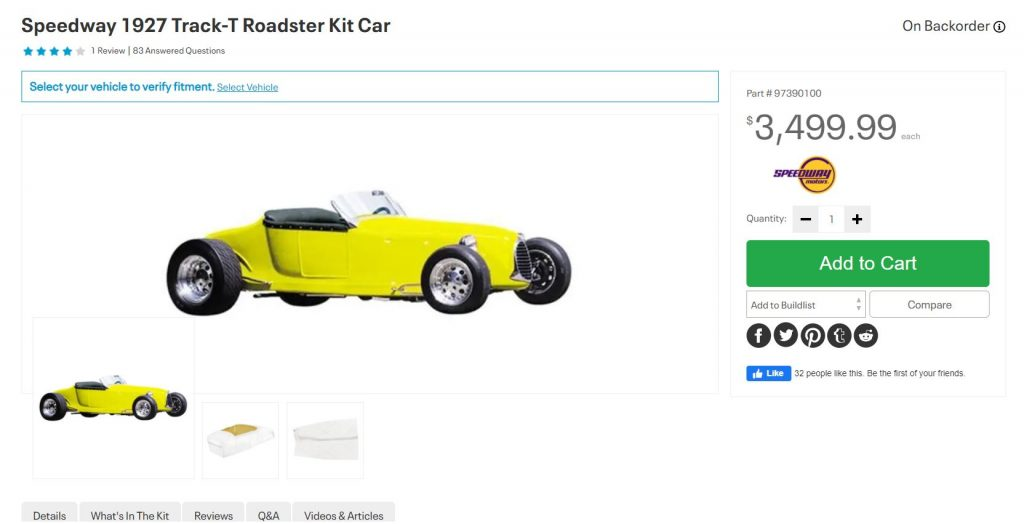 Siegel - My surprising infatuation with a track T roadster - speedway track t kit