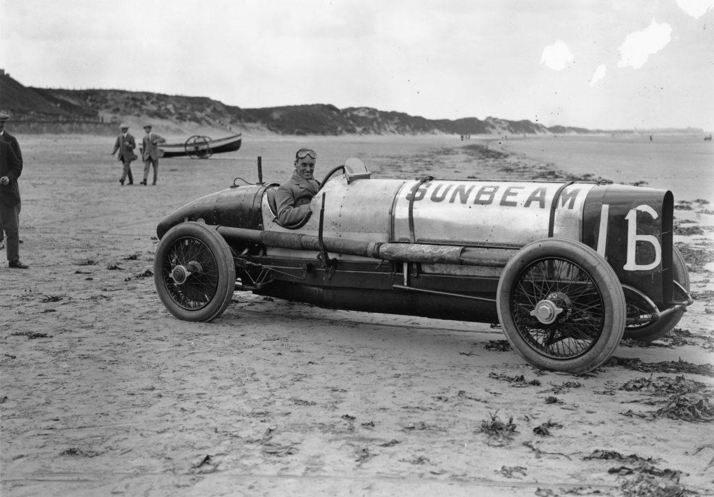 Captain Malcolm Campbell Sunbeam racing car