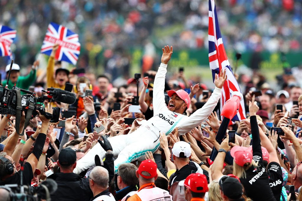 F1 Grand Prix of Great Britain Lewis Hamilton Wins