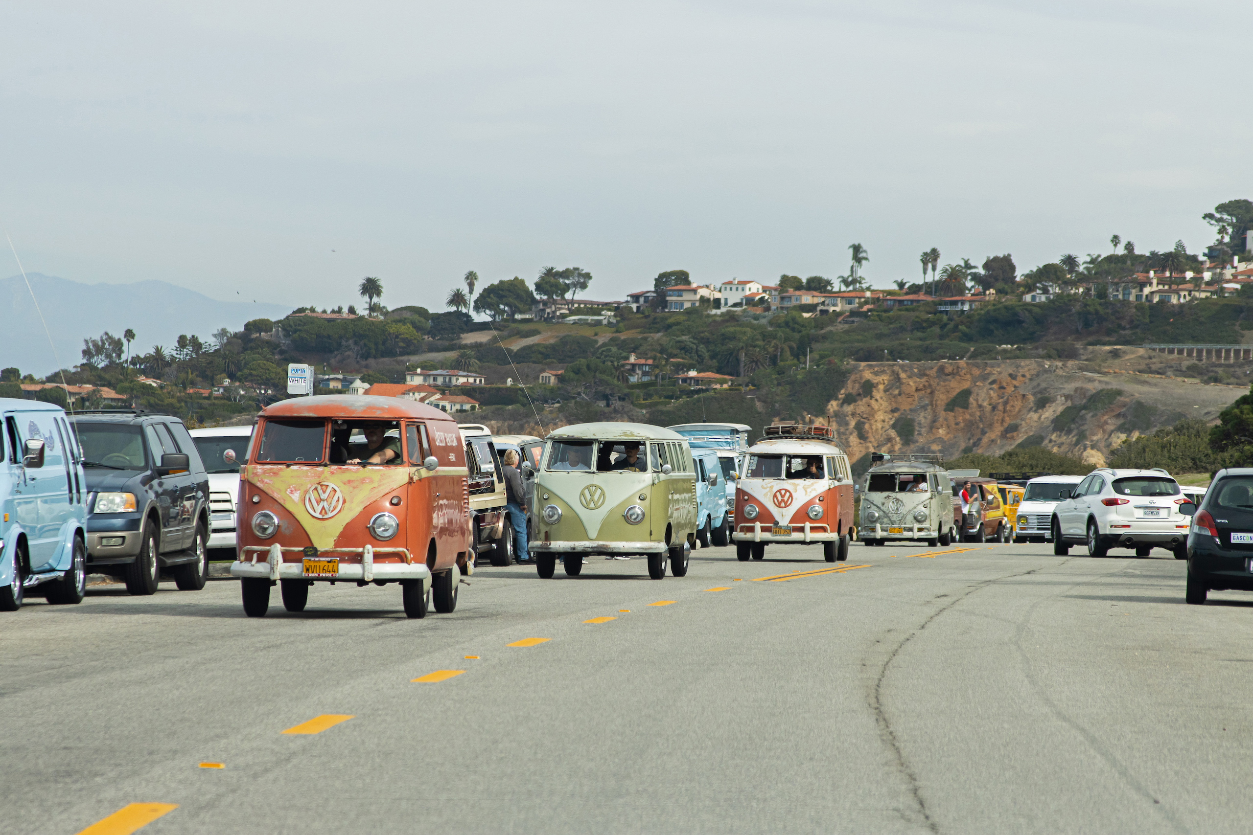 So-Cal Slow Ride Van Run vw road action
