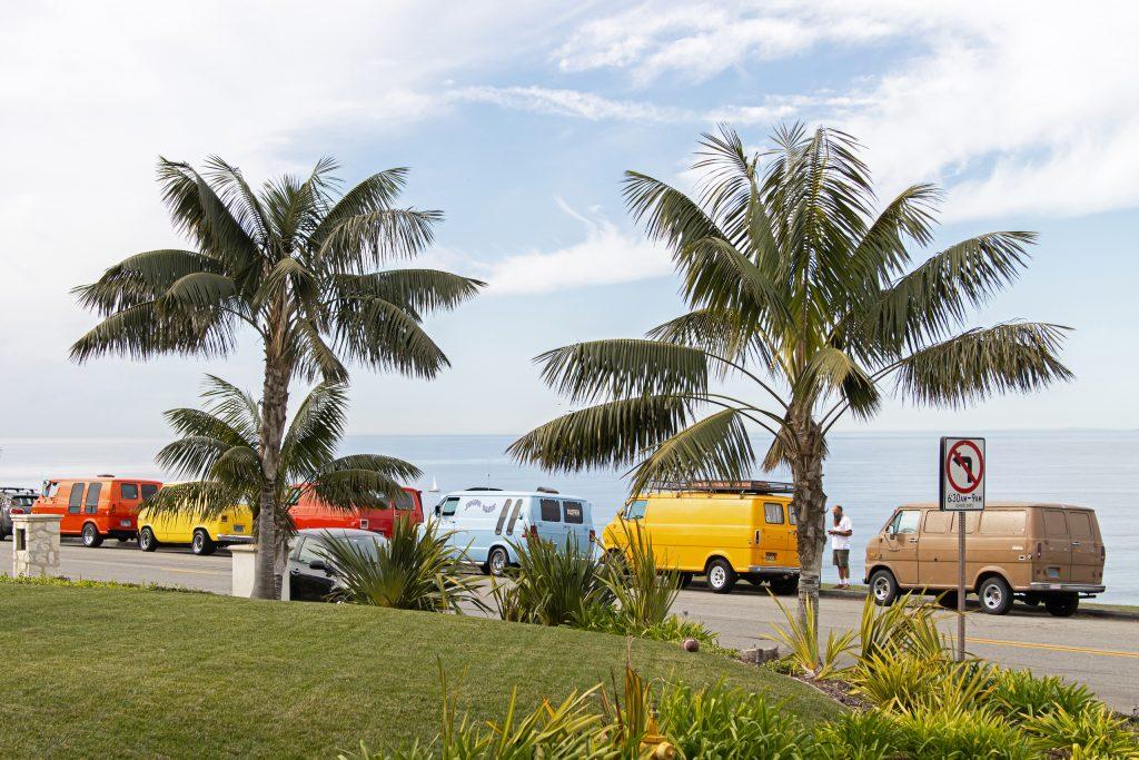 So-Cal Slow Ride Van Run palms and vans