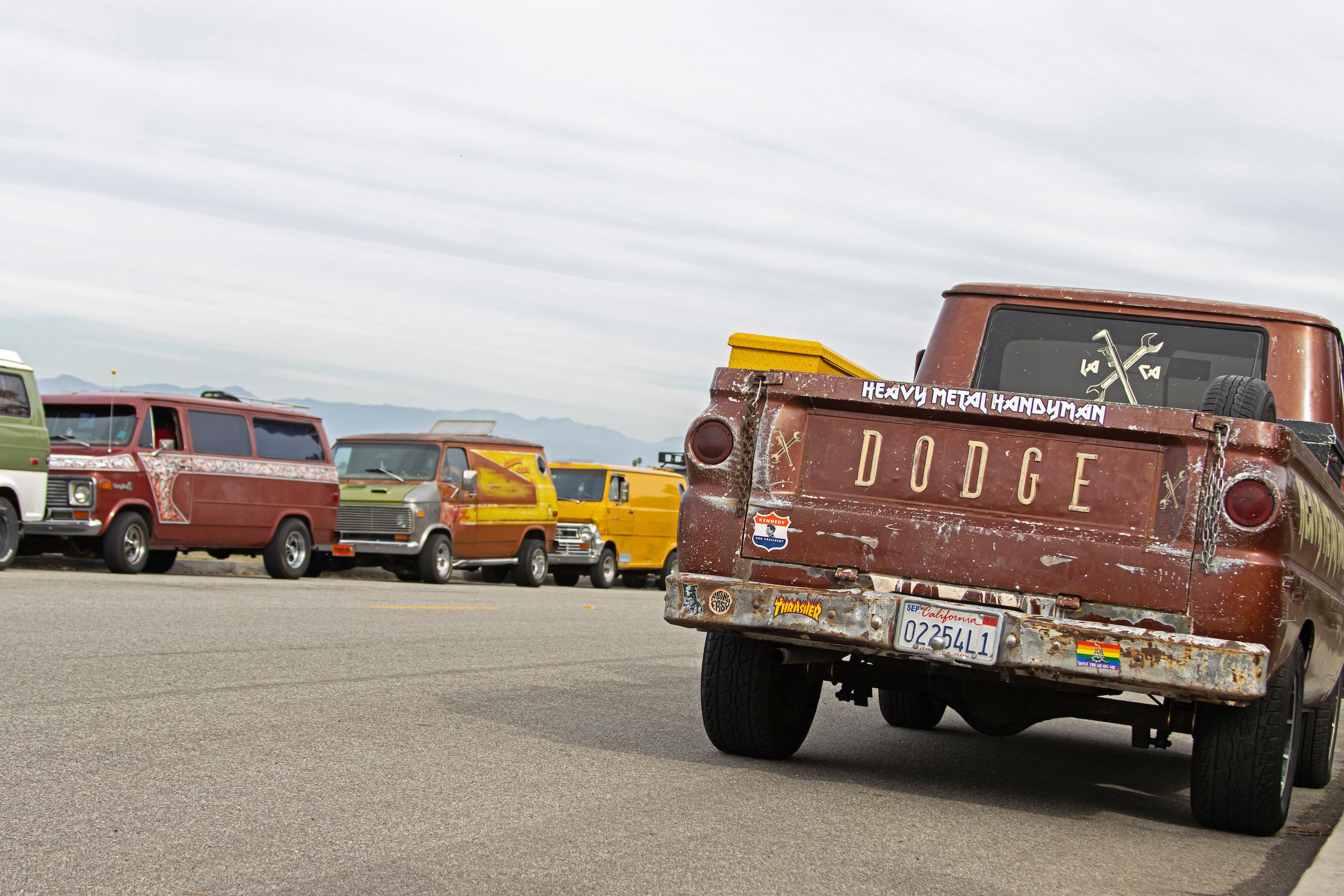 So-Cal Slow Ride Van Run dodge tailgate and vans