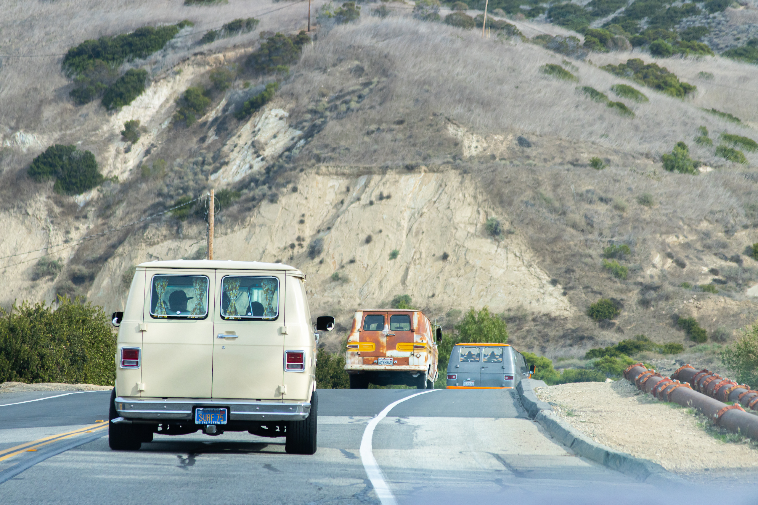 So-Cal Slow Ride Van Run on the road rear