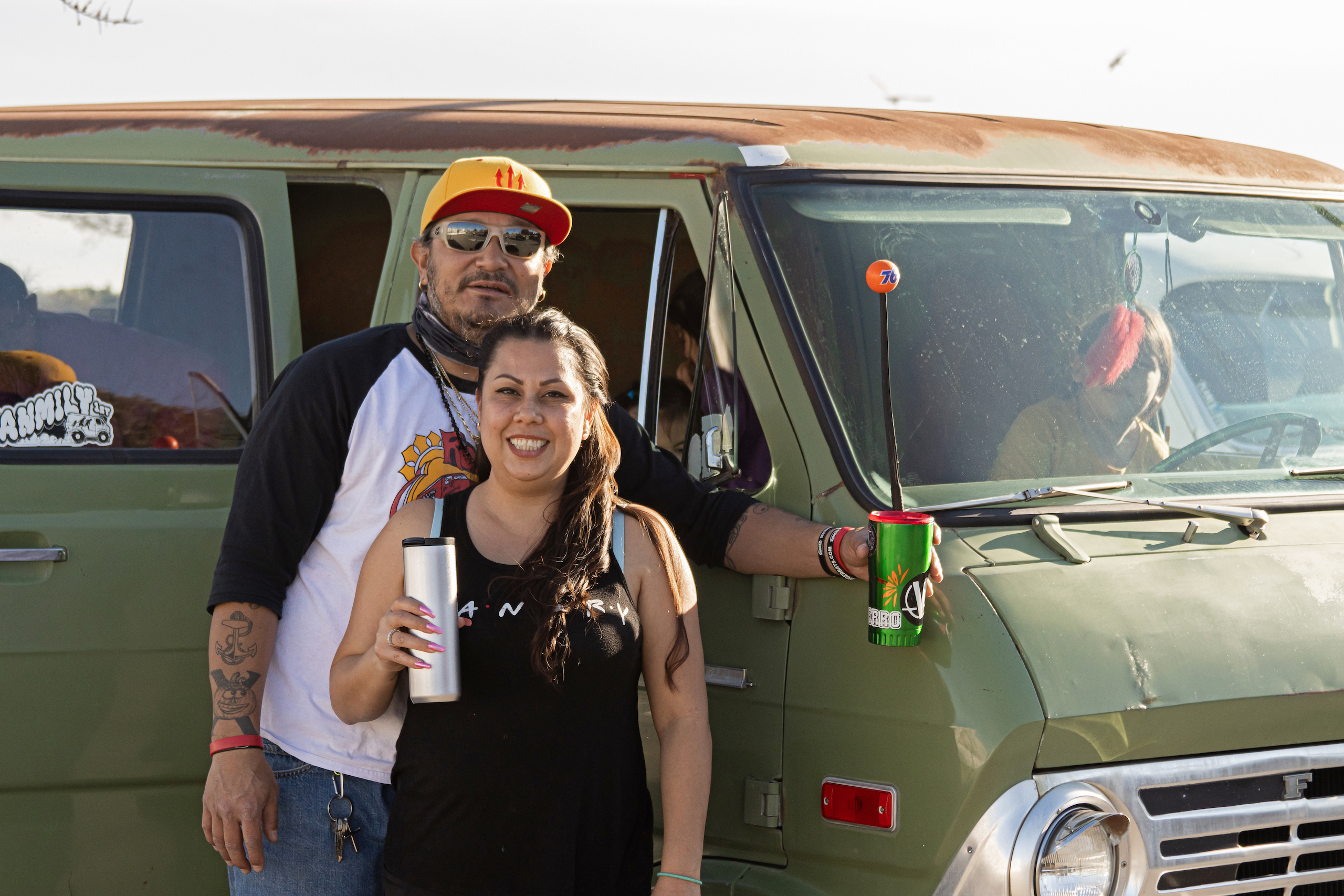 So-Cal Slow Ride Van Run van couple