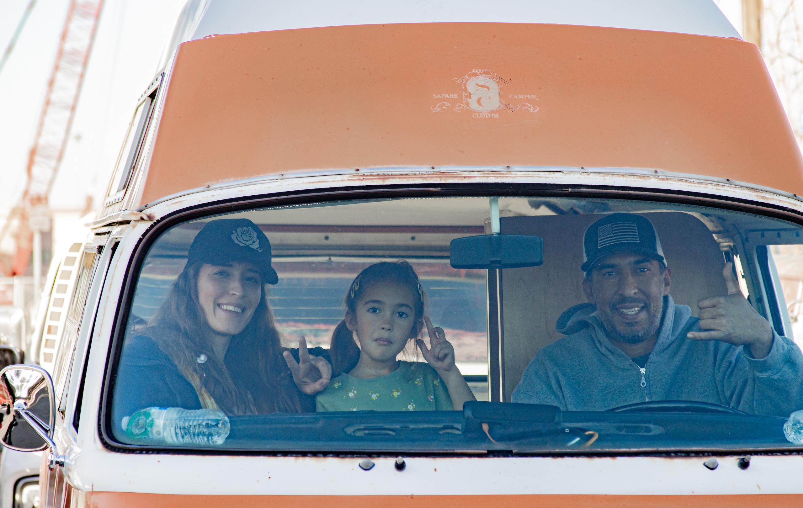 So-Cal Slow Ride Van Run family time