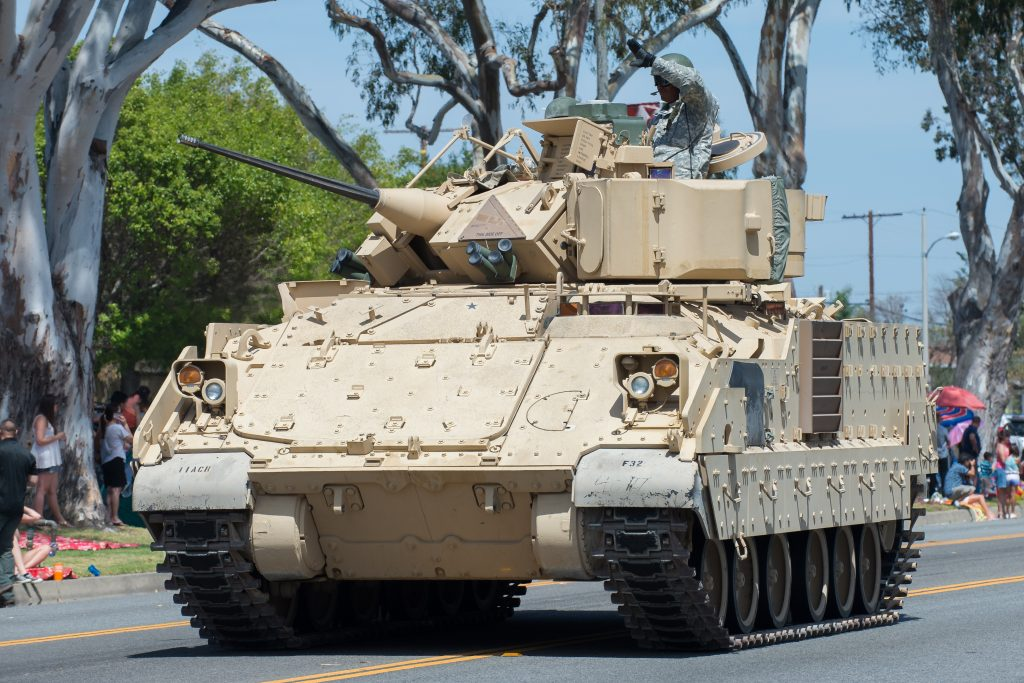 U.S. Army M2A2 Bradley Infantry Fighting Vehicle in parade