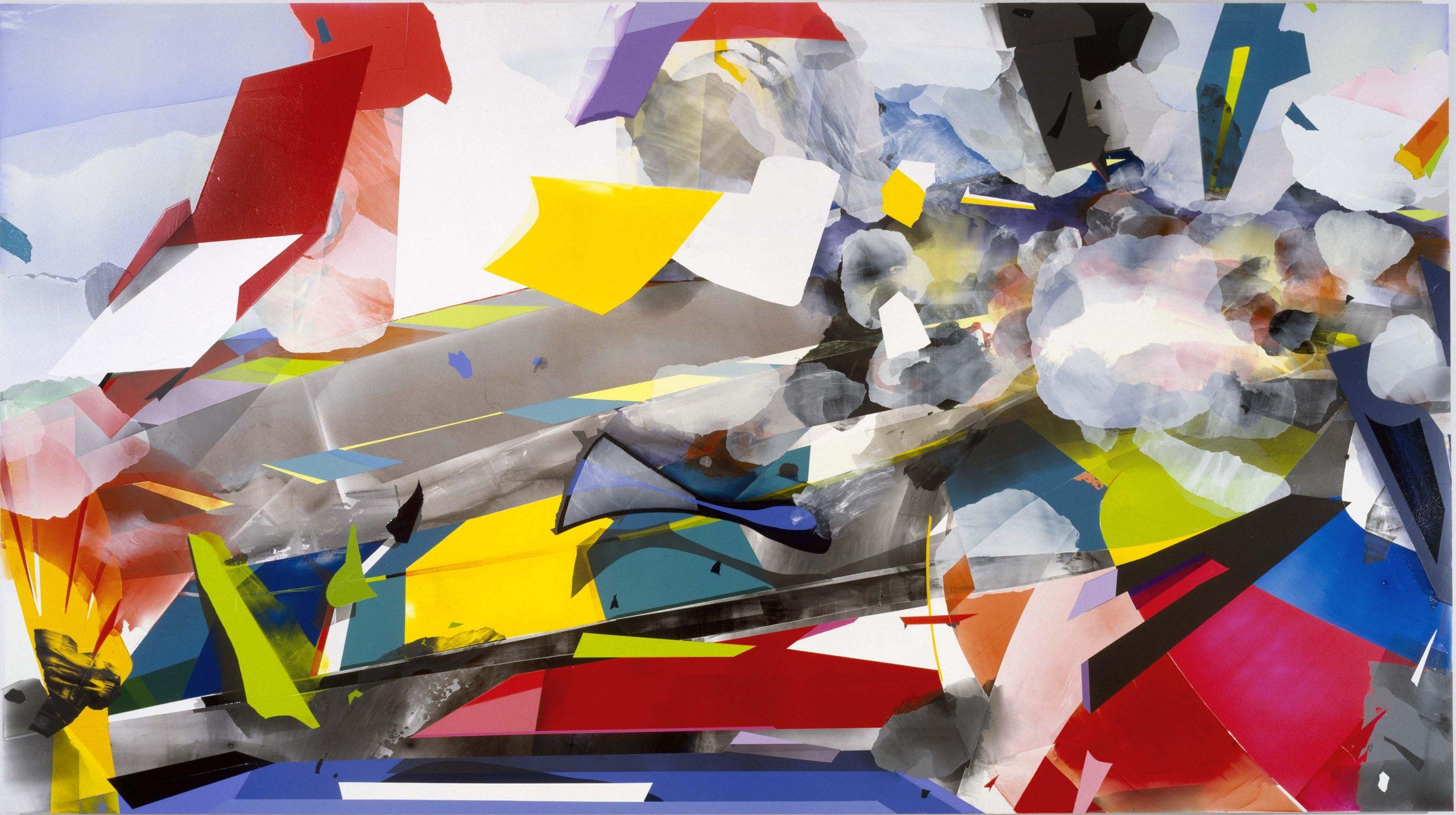 abstract acrylic on pvc board