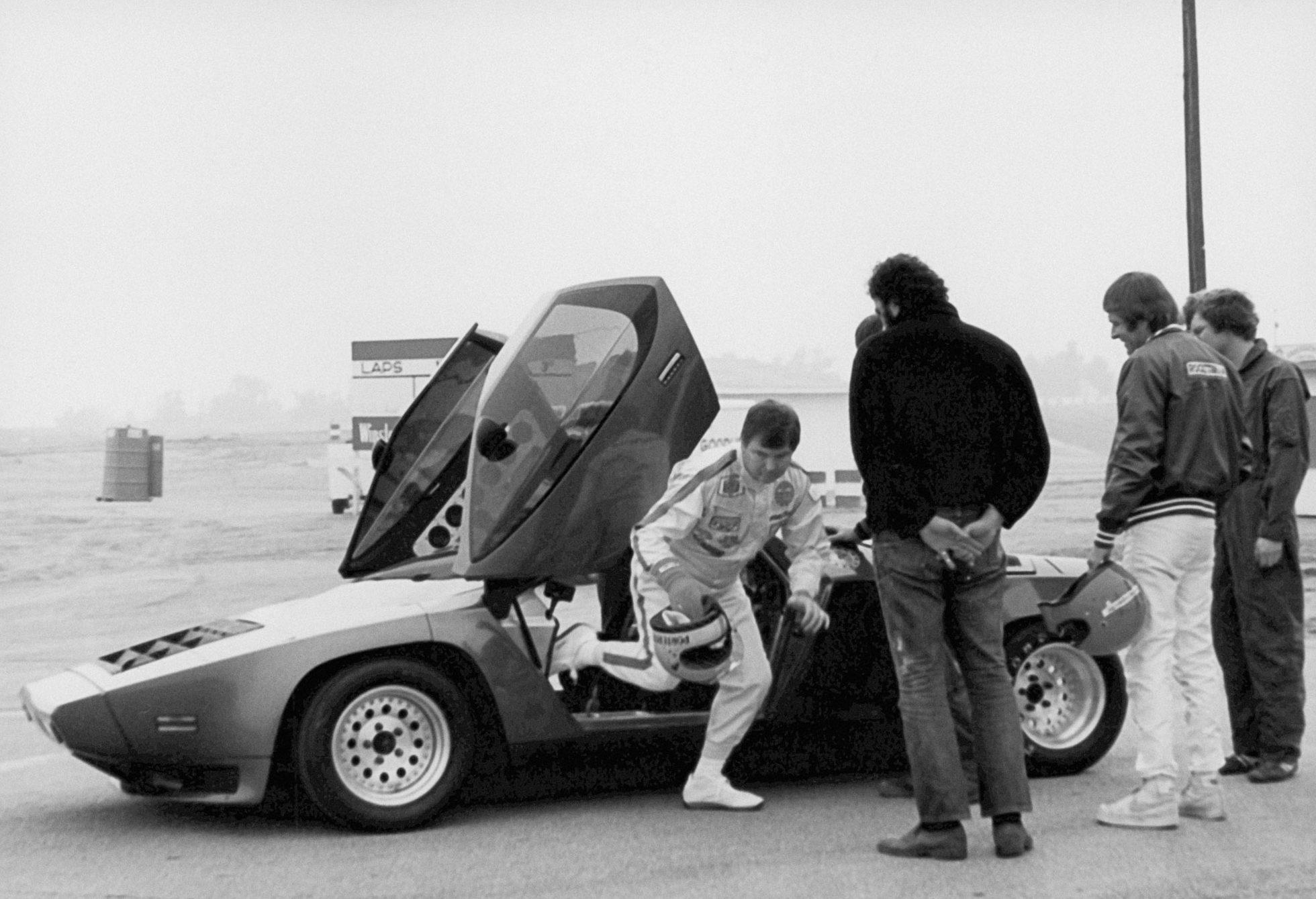 Vector W2 prototype during initial testing at Riverside International Raceway