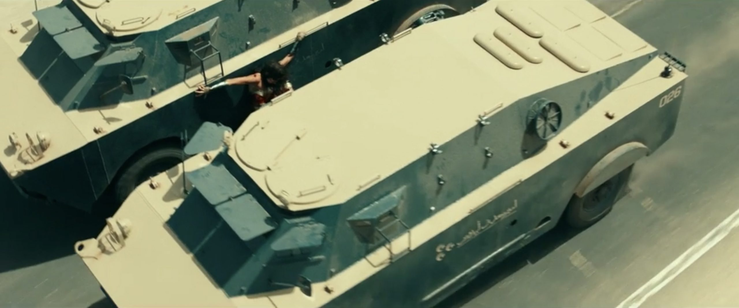 military transport chase scene action