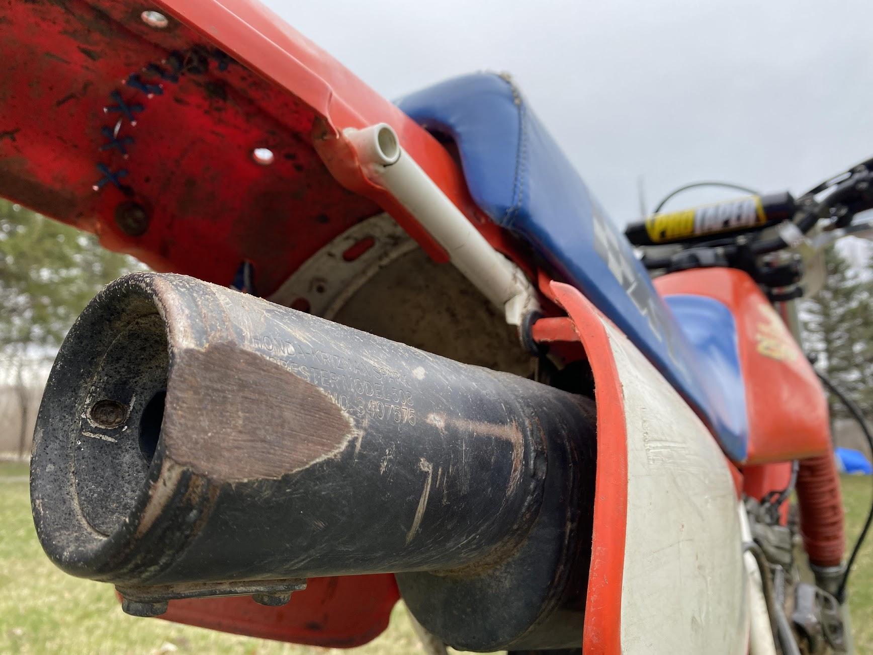Honda Xr250 exhaust damage