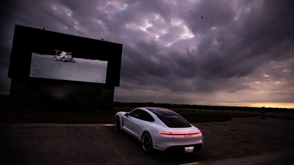 Porsche Taycan and Charlie Duke 1