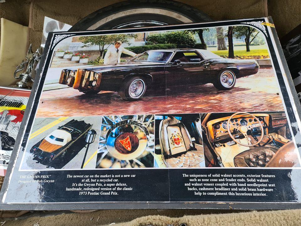 1973 Pontiac Gwynn Prix plaque