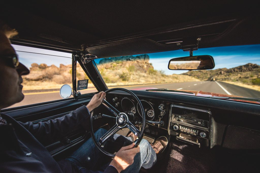 1967 Chevrolet Camaro RS interior driving action