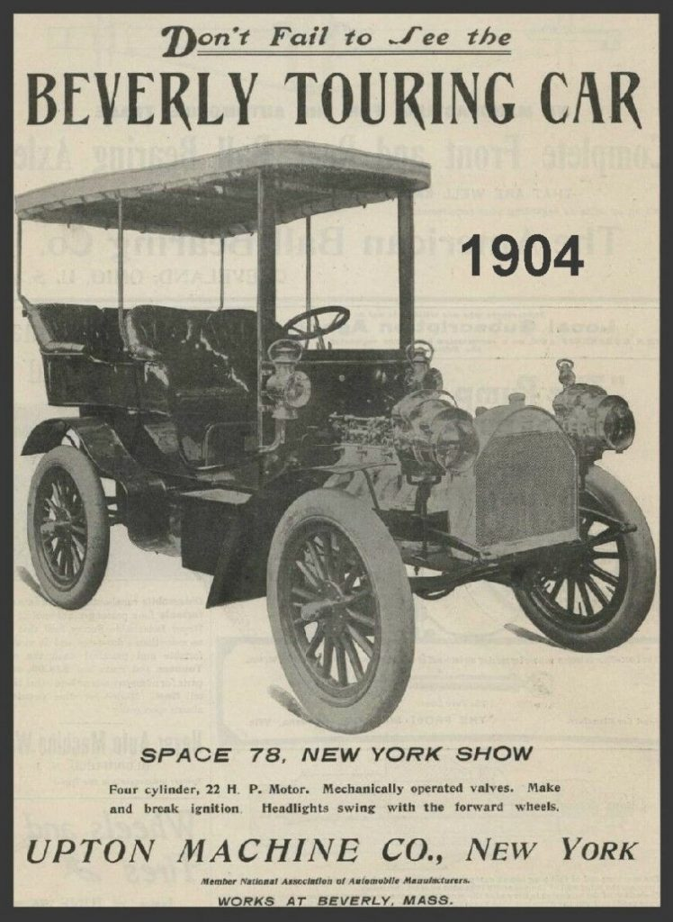 1904 Beverly Touring Car ad - New York Auto Show
