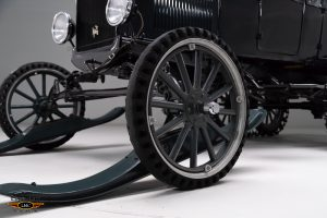 1926 Ford Model T Snowmobile front wheel