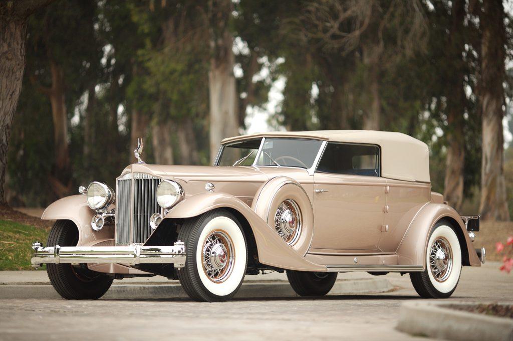 1933 Packard 12-cylinder Dietrich Convertible Victoria