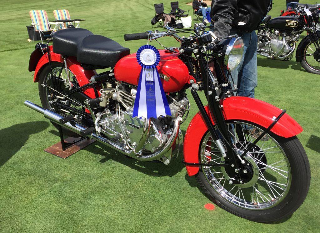 1952 Vincent Rapide show winner ribbon