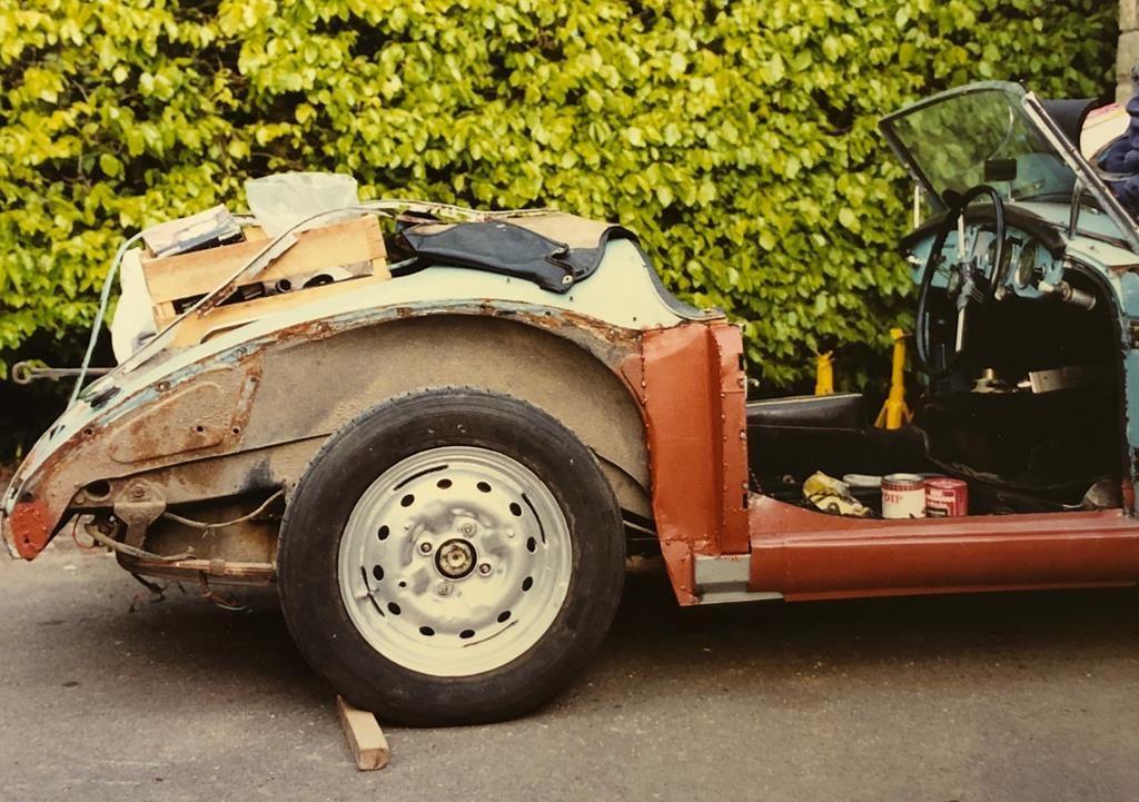 1960 MGA roadster resto rear quarter