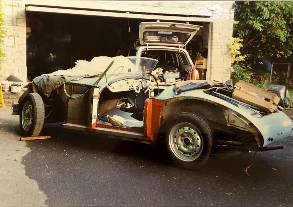 1960 MGA roadster resto rear three-quarter