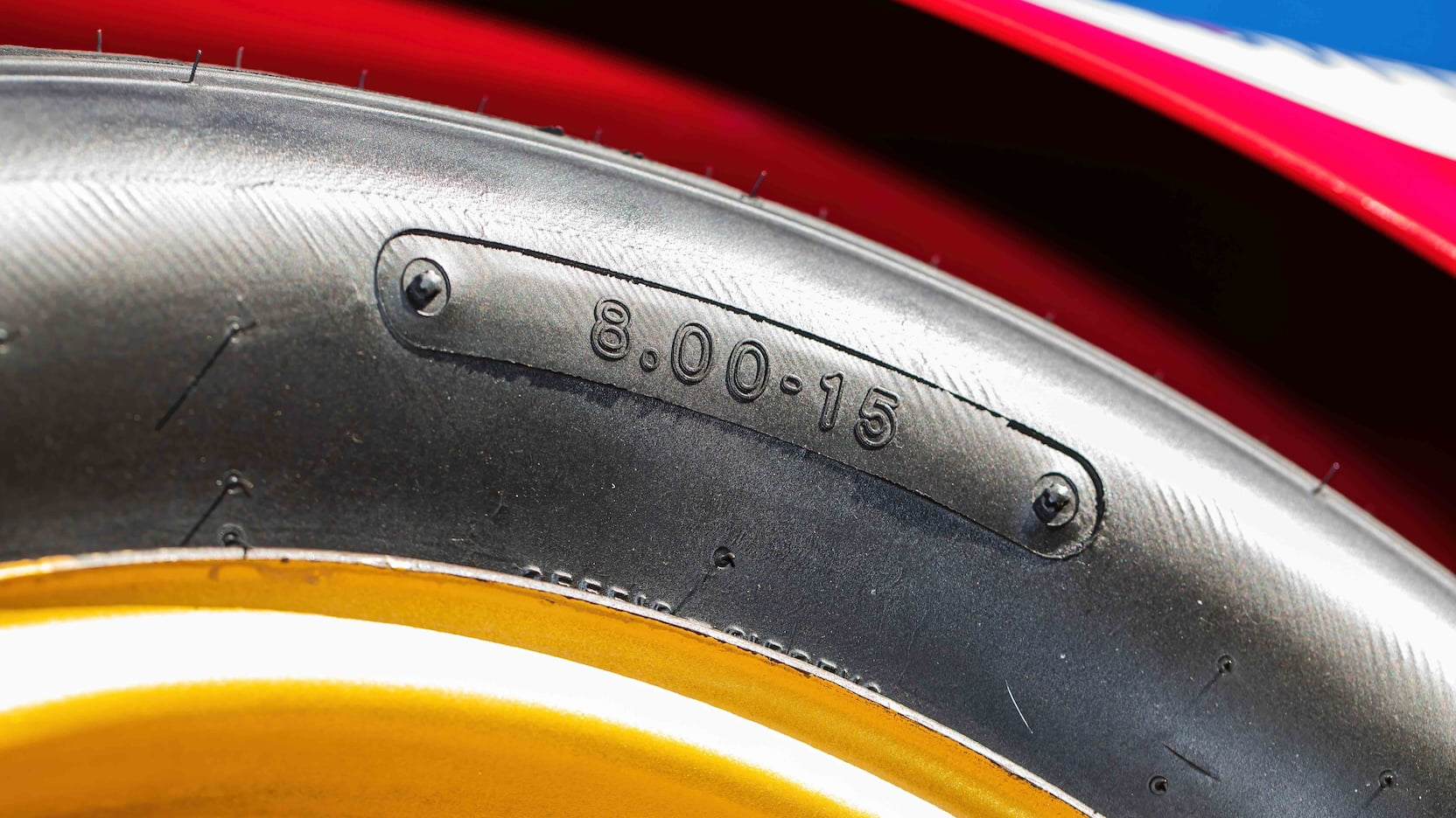 1967 Ford Mustang Holman-Moody Racer tire detail