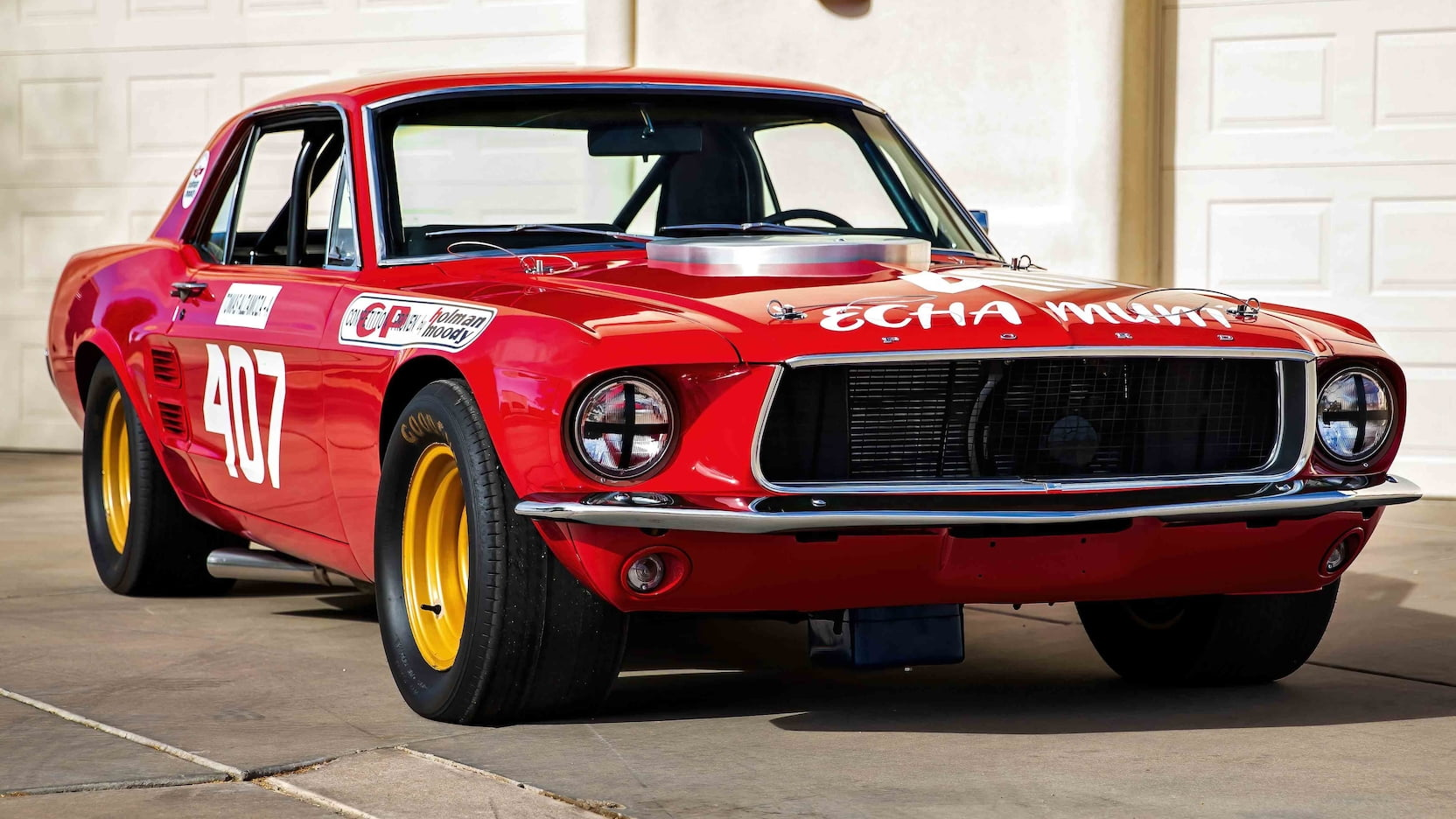 1967 Ford Mustang Holman-Moody Racer front three-quarter
