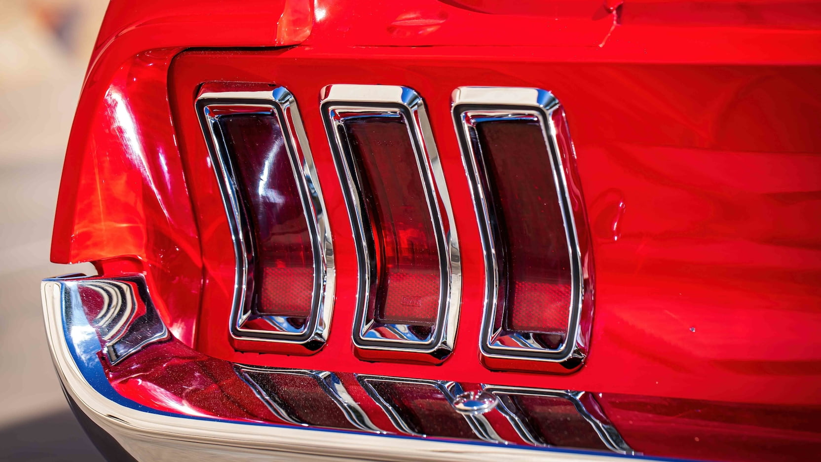 1967 Ford Mustang Holman-Moody Racer taillight detail